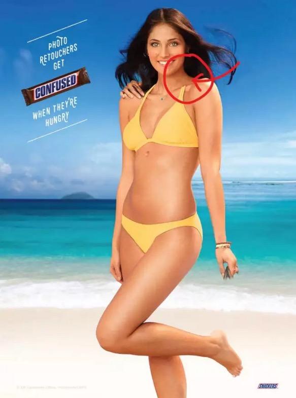這張廣告海報隱藏了「11個超扯的修圖失誤」但老闆看到愛死了,你有辦法找出全部的錯誤嗎?