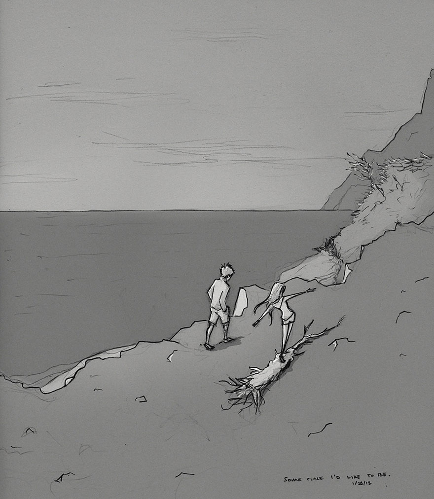愛老婆愛到無法自拔!插畫家每天畫一張圖紀念日常 網友看完淚喊:單身錯了嗎?