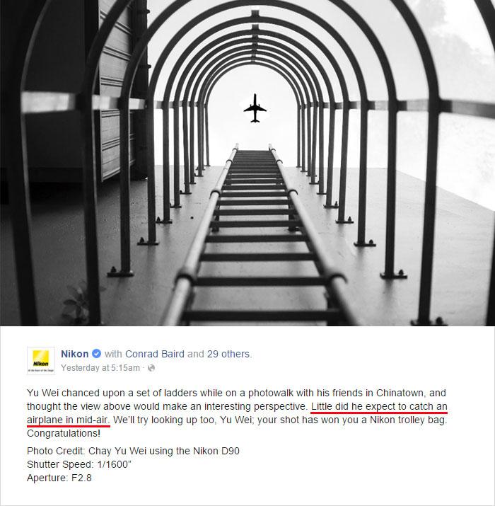 網友們發現「PS痕跡明顯的Nikon攝影得獎作品」,於是網友也不客氣地改圖取笑到Nikon發文道歉了!