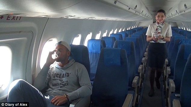 The 28-year-old said the flight was unforgettable and he felt like a superstar during the journey