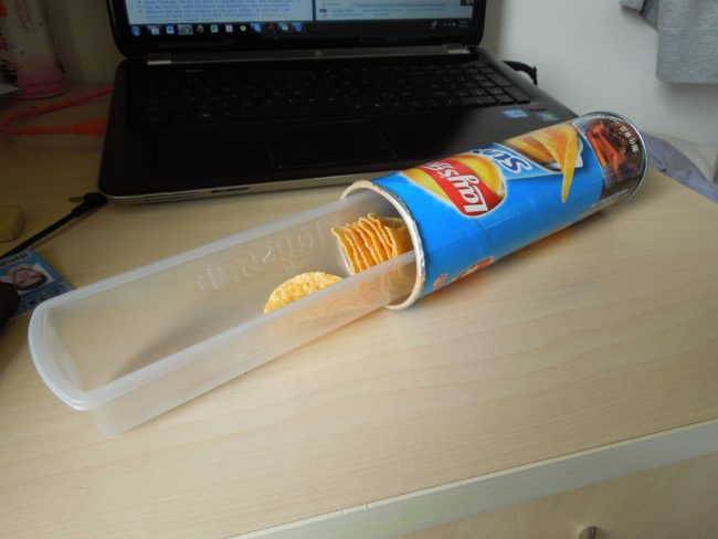 The answer to this classic Pringles problem.