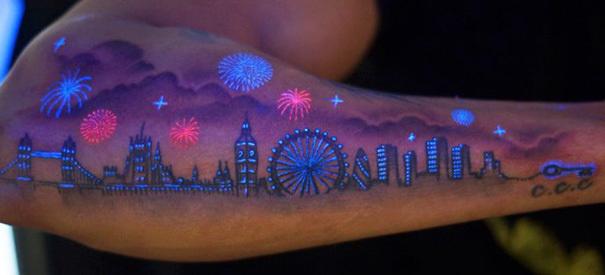 London skyline.