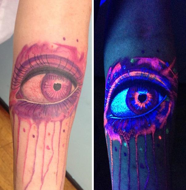 An illuminated eye.