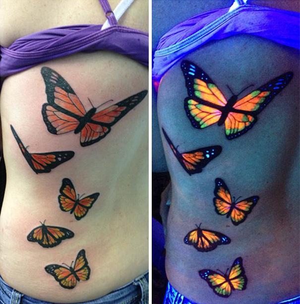 Bright butterflies.