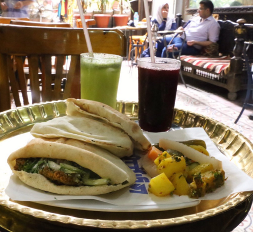 Cairo — a falafel or shawarma pita
