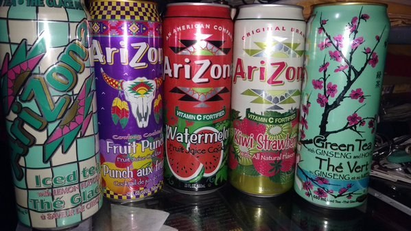 And the United States — a huge can of Arizona iced tea