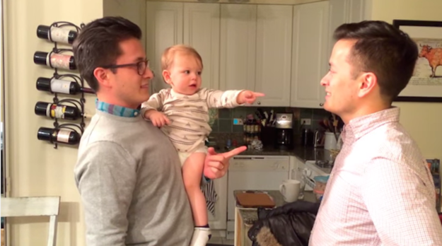 """But when Michael Ratpojanakul took off his glasses, Reed was seriously confused. """"Dada,"""" he said, pointing at his uncle."""