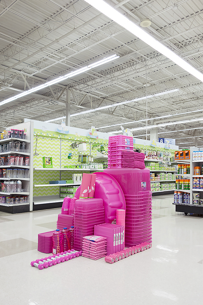 The pink section.
