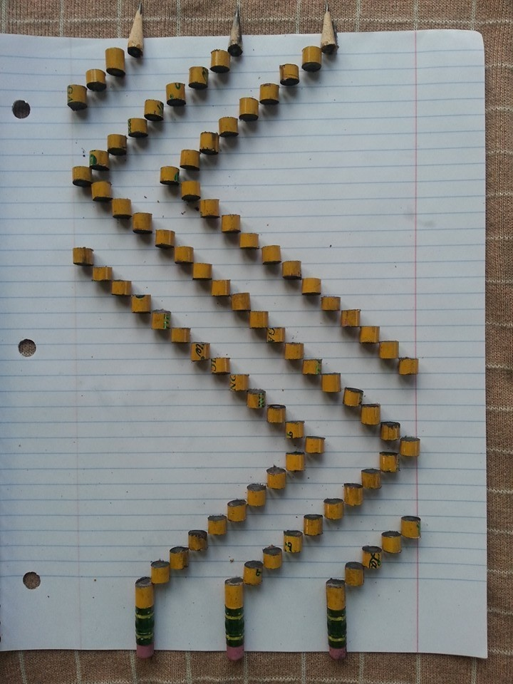 Pencil chops.
