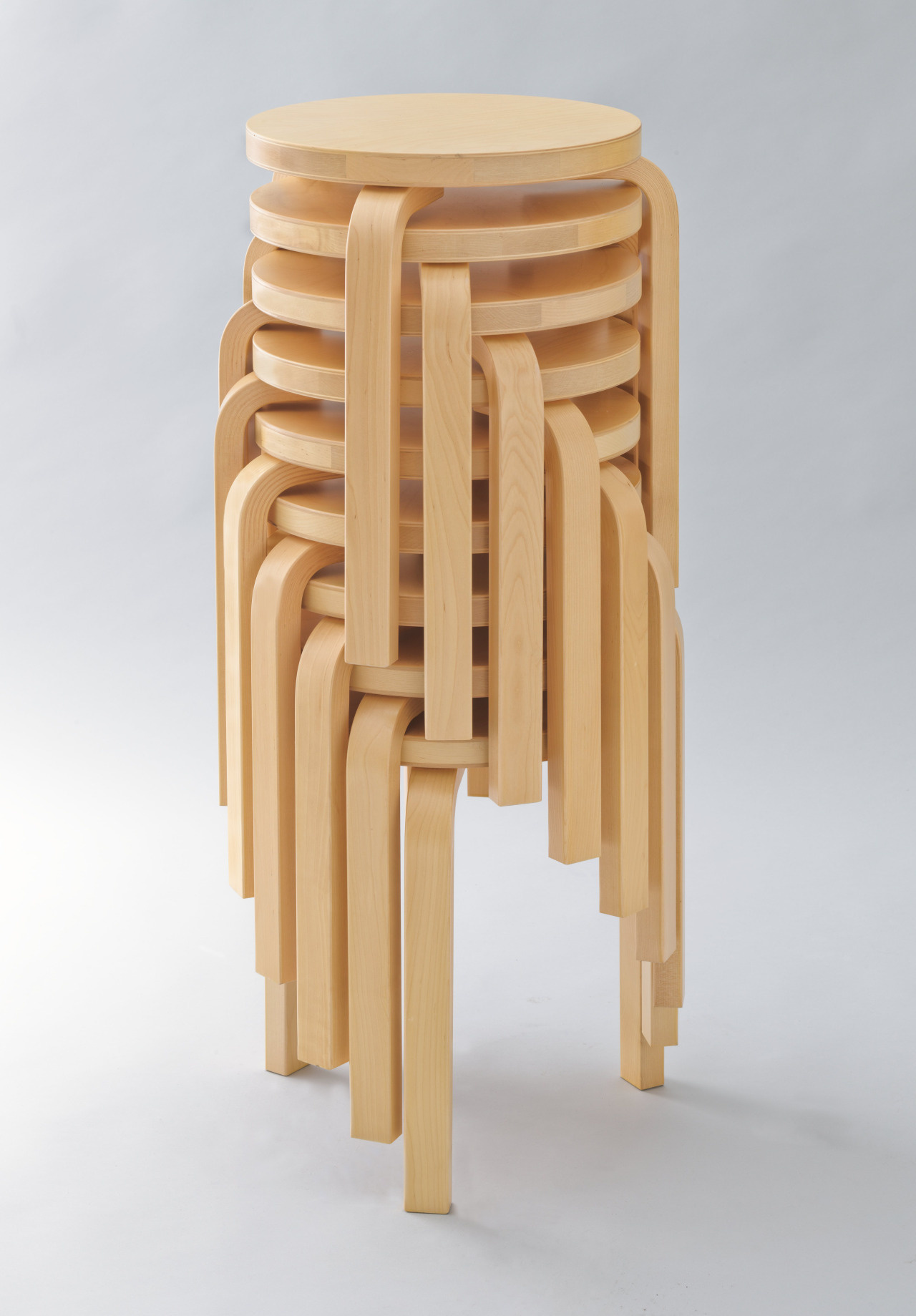 Stacked stools.