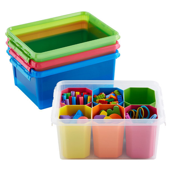 These color-coded storage containers ($11.99).