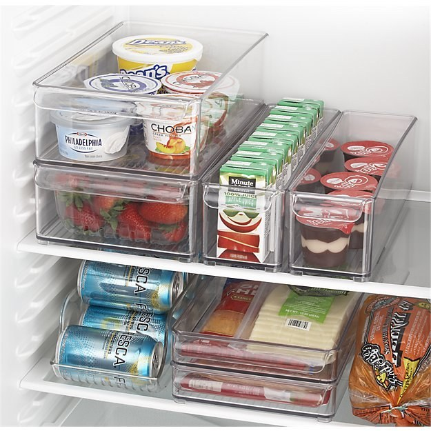 These modular fridge bins to help you find everything you're looking for ($10.95).