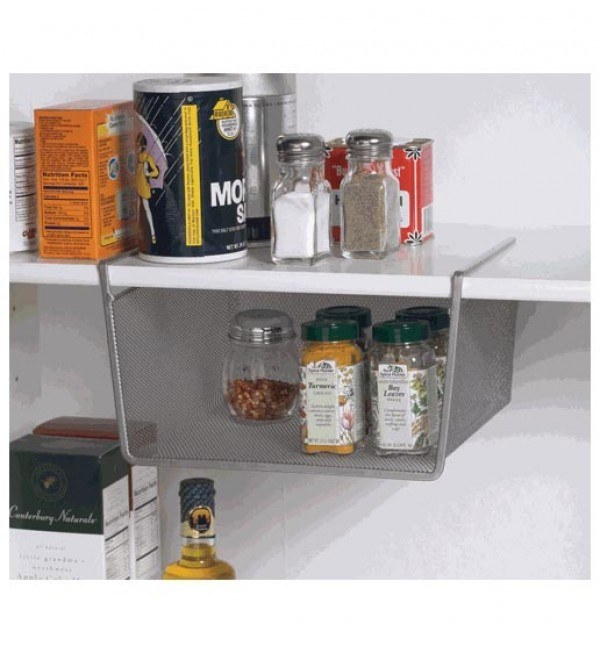 This under-shelf attachment for extra storage in your cabinets ($11.76).