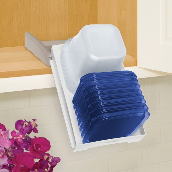 This tupperware organizer that pulls down for easy access($19.59).