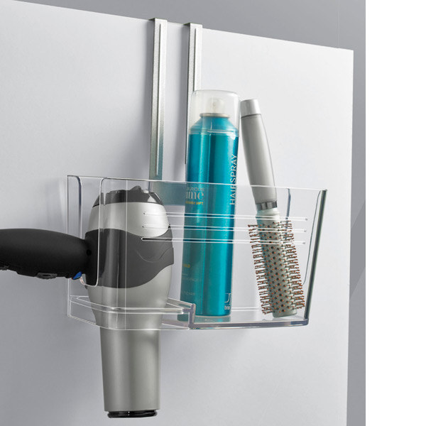 This over-the-door caddy to store your hair products ($19.99).