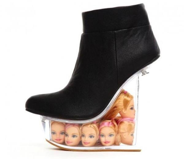 Barbie head shoes.