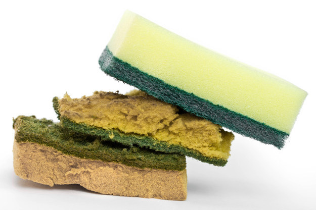 Using a sponge for way too long.