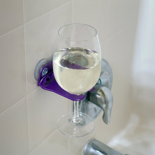 This perfect wine holder so you can truly enjoy your shower.