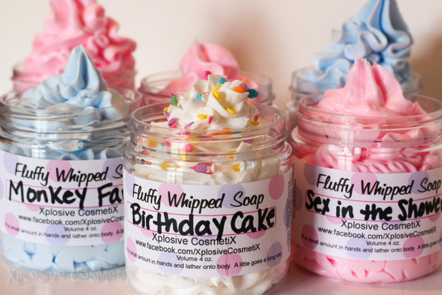 These whipped vegan soaps to make you smell like a birthday cake.