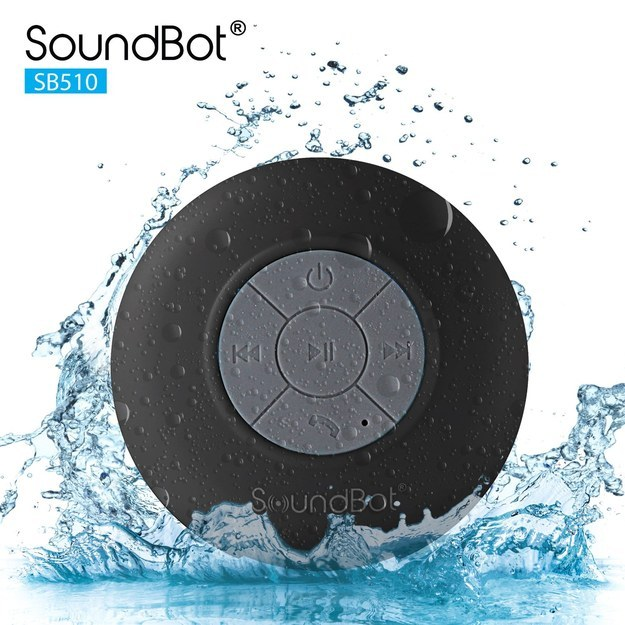 This waterproof bluetooth speaker to help you sing in the shower.