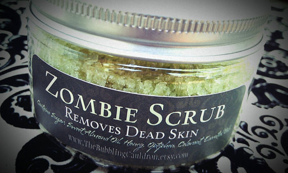 This zombie scrub that removes dead skin.