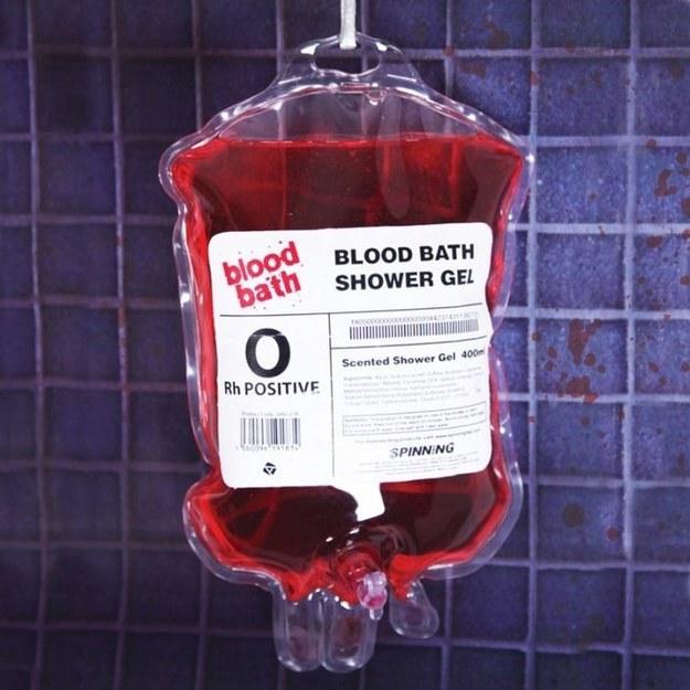 This shower gel to create a blood bath.