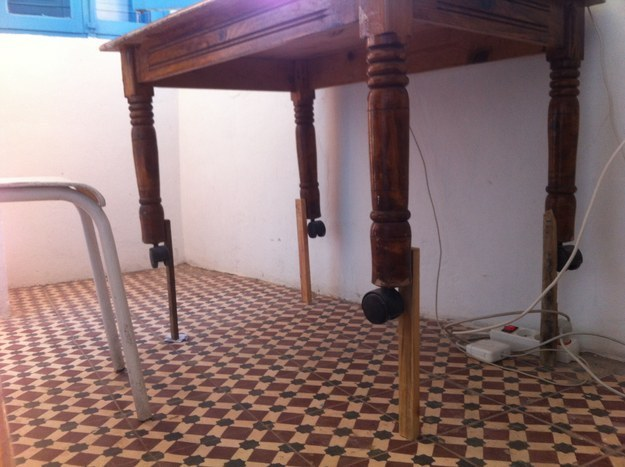 This landlord who created this shitshow when the tenants asked for a bigger table.