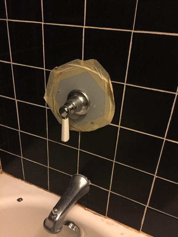 The landlord who did this disastrous repair job.