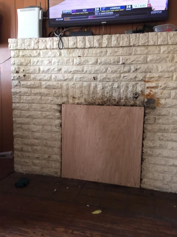 This flawless fireplace replacement.