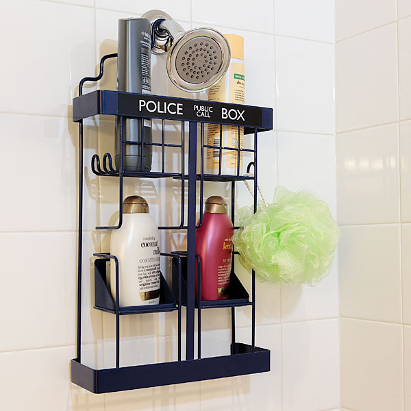This Tardis shower rack.