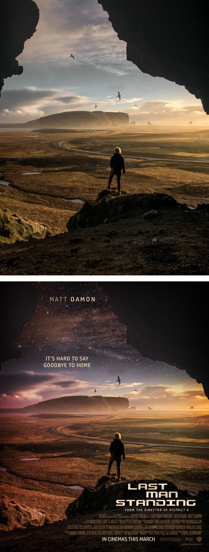 這名網友將15張平凡照片PS成好萊塢等級的影劇海報!#8才更應該是《絕地救援》的海報!