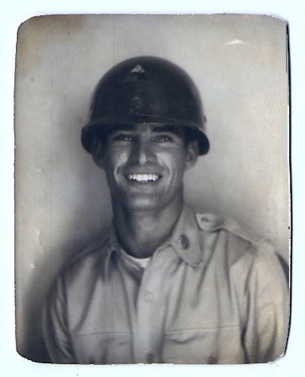 Last week, Derek Schwendeman of Newark, Delaware, posted this photo of his grandfather Thomas Schwendeman to Reddit. The photo was taken right before he was deployed to Korea in 1952.