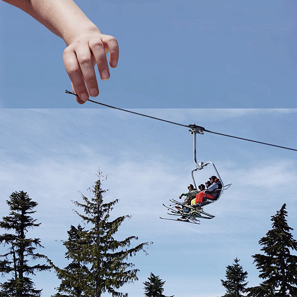 Daughter Holding Wire + Ski Lift