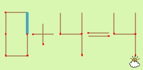 只要動一根火才這個「6+4=4」算式就會正確。你能看出3種解法嗎?