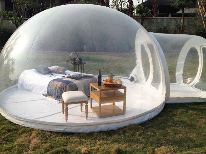 這個可以360度把美麗星空看光光的「泡泡帳篷」會完美你的人生!當下雪時在裡面的景象真的讓人快窒息!