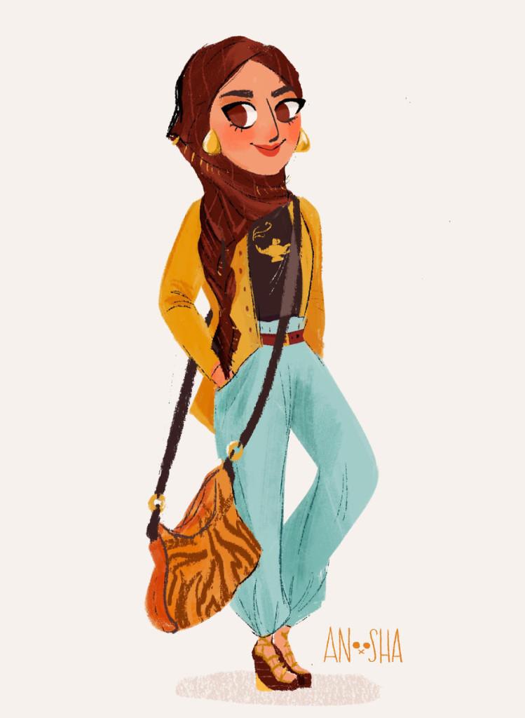 10位迪士尼公主來到21世紀的寫實版造型,白雪公主化身為社群女王的超大反差太讓人震驚啦!