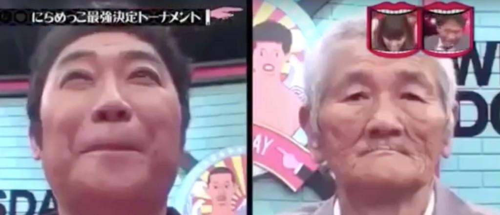 他們找來鬼臉專家跟神級爺爺挑戰看誰先笑,老爺爺被逗到48秒都沒反應但當他一出擊鬼臉專家也秒崩潰了!