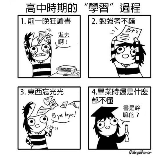 6張可愛又貼切的漫畫跟你解釋為什麼「去上高中根本就是在浪費你的生命」!