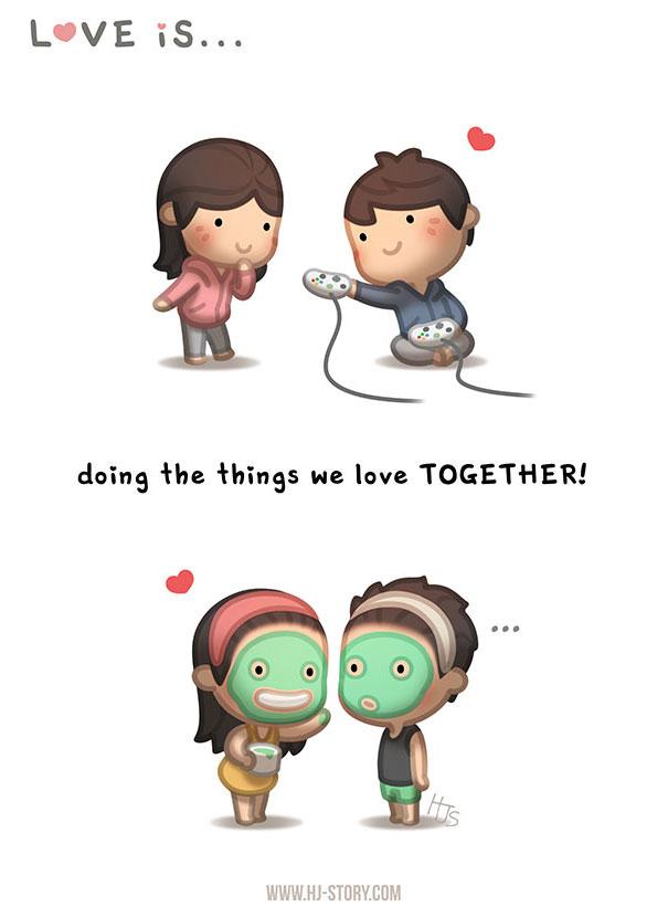 30張證明「他就是真愛」的甜蜜插畫 接受彼此的差異最重要!