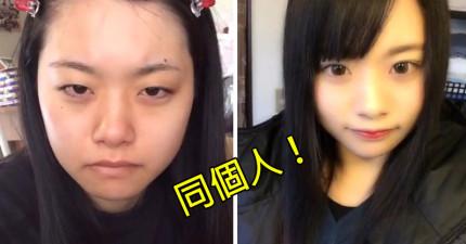 8個化妝前沒人會多看她們一眼的女生,但是一化妝後正到星探都要來簽約讓她們出道了!