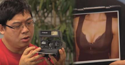 這台拍立得相機只拍得出女生的胸部乳溝,當不知情者幫超正秘書和老闆拍照時...