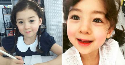 網友聲稱找到「韓國最萌小女孩」,看到「姊姊的模樣」才知道這一家人的基因有多強大!
