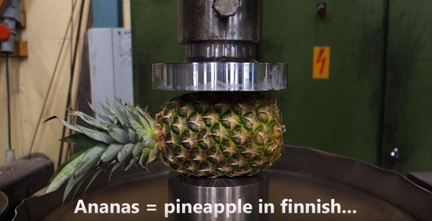 把水果壓爆