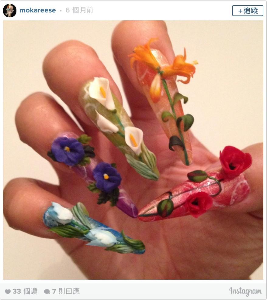 12個可愛到就算不能擦屁股但都覺得很值得的「過度有創意超立體指甲彩繪」。