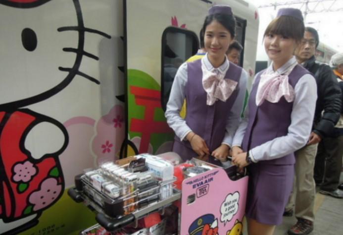 太魯閣Hello Kitty彩繪列車首航才一天,結束後當清潔人員一進去清理時就看到了令人超失望的景象。