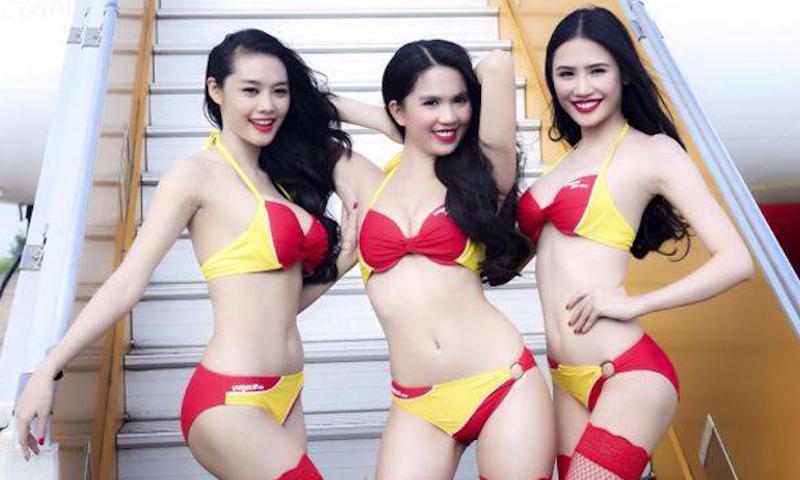 越南航空堆出「性感比基尼空姐」服務 照片曝光後大家都「把生意移到越南」!