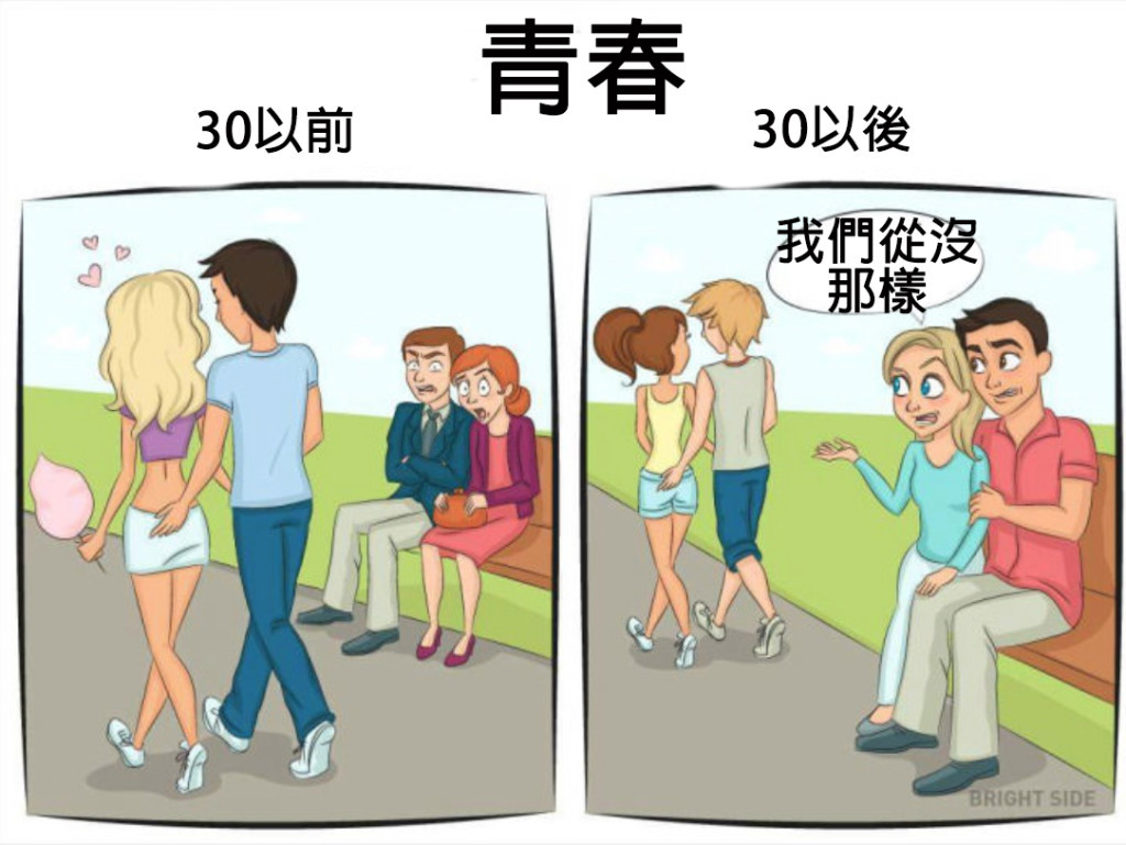 9張插圖證明女生「30歲之前 VS 30歲之後」根本就是兩個不同的人