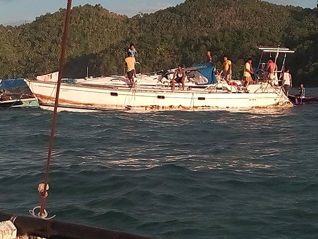 The yacht Sajo. Credit Barobo Police Station