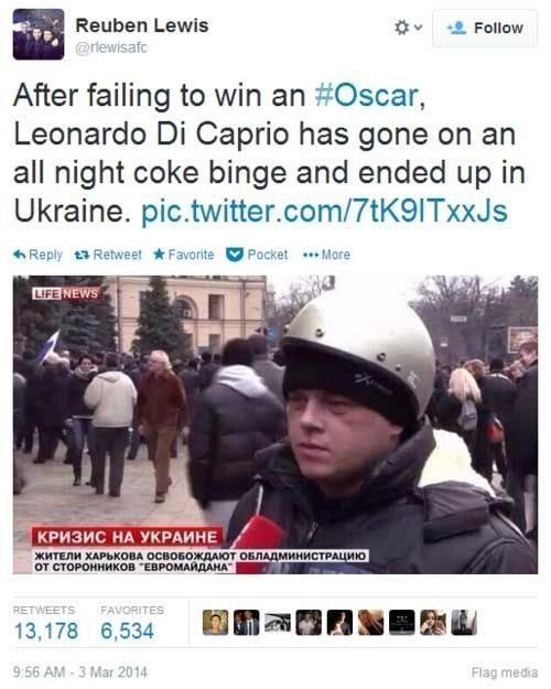 Or worry about Leo ending up in Ukraine...