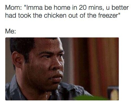 """The """"I Totally Forgot to Take the Chicken Out"""" talk:"""